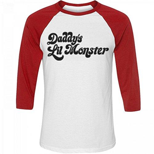 Costume Tee Harley Quinn: Unisex 3/4 Sleeve Raglan T-Shirt
