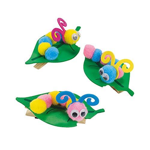 - Fun Express - Pom Pom Caterpillar Note Holder ck for Spring - Craft Kits - Stationary Craft Kits - Misc Stationary Craft Kits - Spring - 12 Pieces