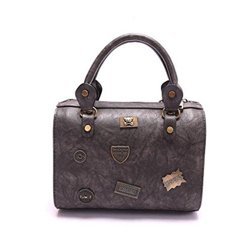 borsa del NVBAO Borsa grey Turismo messaggero a partito del shopping tracolla della della grey di del Borsa tracolla a borsa Retro rotondo femminile distintivo B6xqn6AI