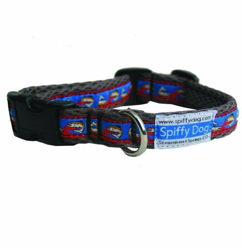 Spiffy Dog Air Trout Dog Collar, S, Grey