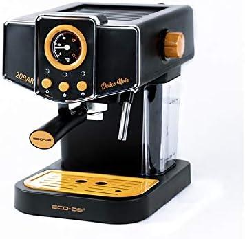 ECODE Cafetera Espresso Delice Noir, 20 Bares de Presión, Vaporizador Orientable, Depósito de 1.5 litros, Mono/Doble dosis, Manómetro con Temperatura: Amazon.es: Hogar