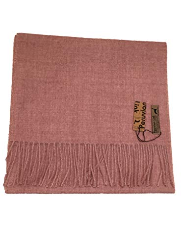 Peruvian Link Pure Baby Alpaca Scarf - Made with 100% Peruvian Baby Alpaca - Perfect Gift (Mauve) ()