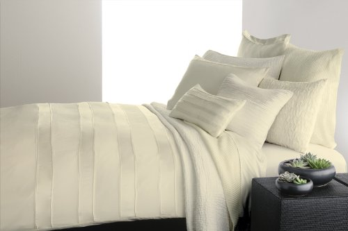 Donna Karan Essentials Lustre Seam Ivory Euro Pillow Sham