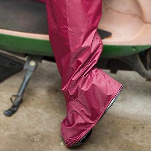 XHYRB 靴カバー、防水ブーツと靴カバー、使い捨て靴CoversWaterproof靴カバー 防水靴、防雨カバー、長靴 (Color : Red, Size : S)