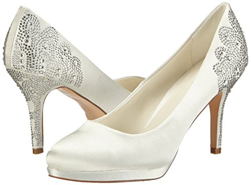 Cerrados De Tacón ivory Zulema Wedding Raso Marfil Mujer Menbur Zapatos Elfenbein qnTXOgpt