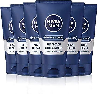 NIVEA MEN Protege & Cuida Hidratante Protector en pack de 6 (6 x ...