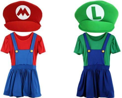 Mario y Luigi Disfraces mujeres adultas Súper fontanero Bros ...