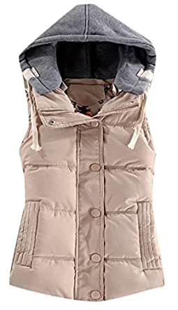 Papijam Womens Quilted Padded Warm Hooded Strings Winter