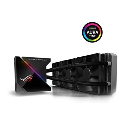 chollos oferta descuentos barato ASUS ROG RYUJIN 360 Sistema de refrigeración líquida de CPU con OLED de Color Aura Sync RGB Tubo de Goma Reforzado de 38 cm Ventiladores iPPC Noctua Industrial PWM de 120 mm