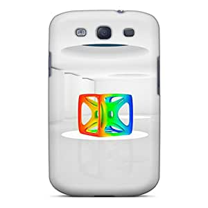 High Grade PeggyPhillips Flexible Tpu Cases For Galaxy S3 - Rainbow Cube 3d