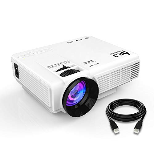 DR.J (2018 Upgraded) 4Inch Mini Projector with 170'' Display - 40,000 Hour LED Full HD Video Projector 1080P Supported, Works with Amazon Fire TV Stick, HDMI,VGA,USB,AV,SD for Home Theater by THZY