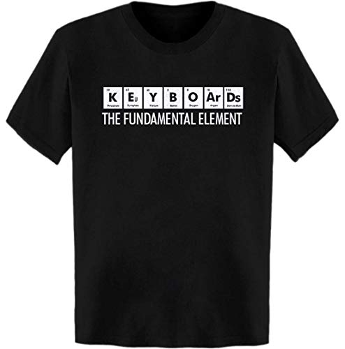 Keyboards The Fundamental Element Periodic Table T-Shirt Black