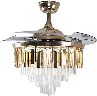Beakjiful Ventilador de techo moderno de 42 pulgadas luces Control ...