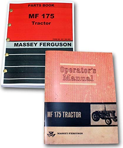 Massey Ferguson Mf 175 Tractor Owners Operators