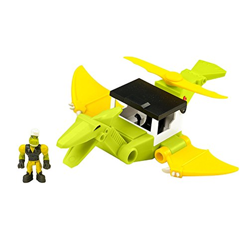 Educational Insights Dino Construction Company Rescue Crew—Cyclone the Pteranodon Helicopter