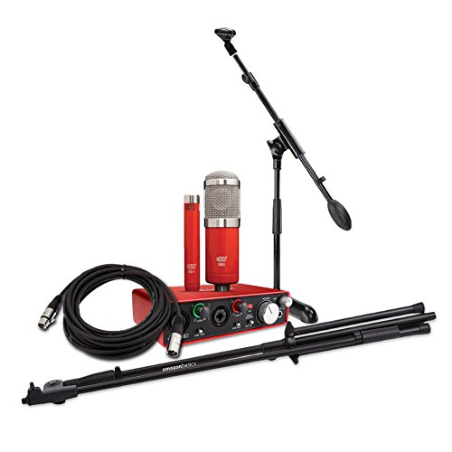 Price comparison product image Focusrite Scarlett 2i2 (2nd Gen) USB Audio Interface bundle with MXL 550 / 551R Condenser Microphone Kit,  XLR / TRS Mic Cables,  and Mic Stands