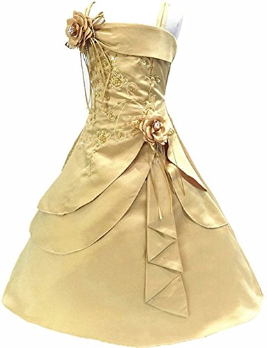 Amazon.com: New Arrival Flower Girl Dresses Kids Embroidery Satin Beaded Long Party Evening Ball Gown Children Formal Clothes: Clothing