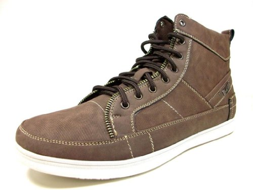 Delli Aldo Hombres 510-brown Lace Up Hi-top Casual Sneakers