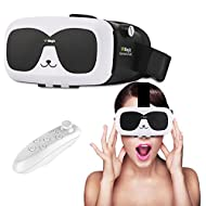 Lunettes 3d VR Headset/, Bevifi casque de réalité virtuelle avec télécommande pour iOS/Android 4.0–15,2 cm, pour iPhone 7 7 Plus 6 6S Plus Samsung Galaxy S7 edge S6 Edge S5 LG Sony etc smartphones