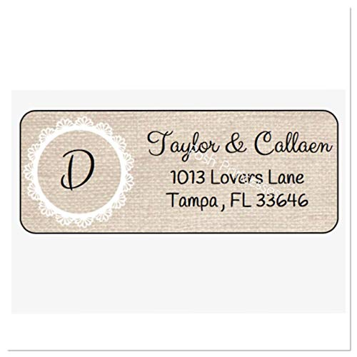 Engagement Address Labels - Burlap Personalized Address Labels, Set Of 30, Personalized Wedding Address Labels, Engagement Labels, Bridal Labels