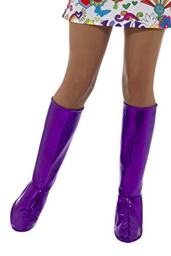 Smiffys GoGo Purple Boot Covers