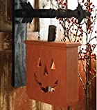K&K Interiors Hanging Jack O Lantern Decorative Halloween Plaque for Arrow Hanger Review
