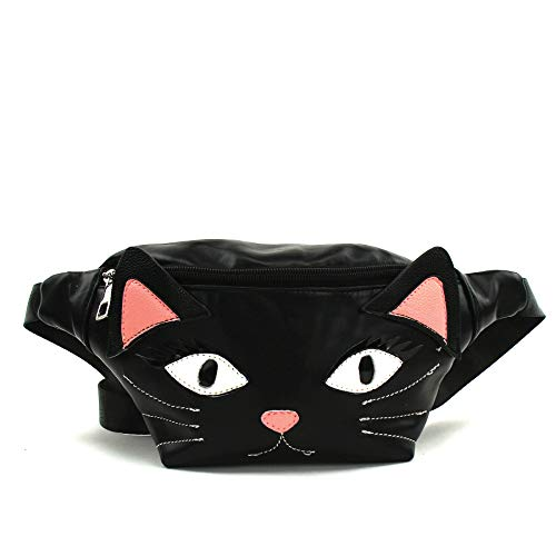 Sleepyville Critters - Black Cat Fanny Pack in