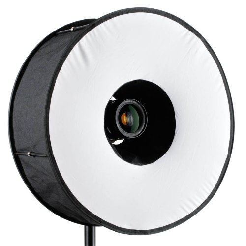 RoundFlash Universal Collapsible Magnetic Ring Flash Diffuser 45cm for Macro & Portrait Shooting - Roundflash