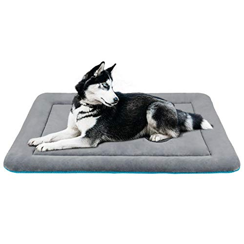 JoicyCo Dog Bed Mat Washable Anti-Slip Soft Crate Pad Mattress for 36 Medium Inch Pets Lightweight Kennels