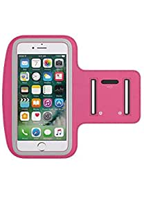 Margoun Universal Sports Running Armband Case Cover for Mobile Phones, Hot Pink