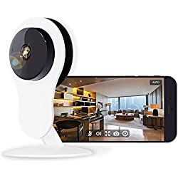 Home Security Camera 1080P, Works with Alexa Echo Show, Netvue HD WiFi Wireless IP Camera with Motion Detection Alarm,7x24h Cloud Storage,4x Digital Zoom, Night Vision,2 Way Audio, Baby/Nanny/Pet Cam
