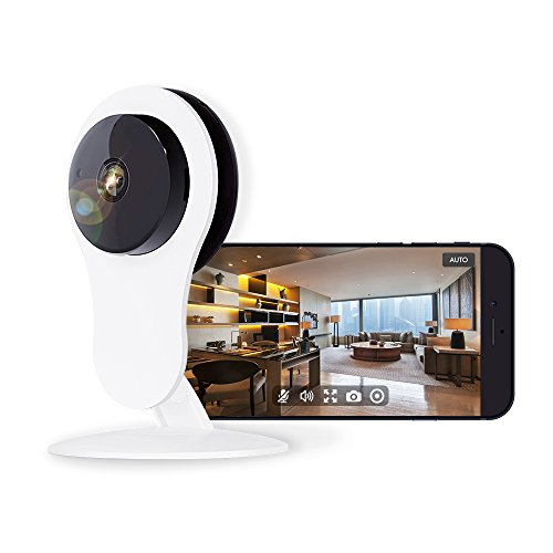 Home Security Camera 1080P, Work with Alexa Echo Show, NETVUE HD WiFi Wireless IP Camera with Motion Detection, 7x24h Cloud Storage, Night Vision, 2 Way Audio, Baby Monitor ()