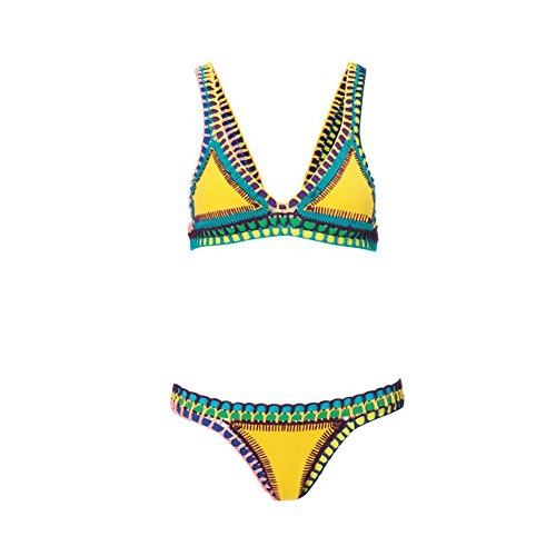 Surker Ladies Bikini Set Two Pieces Swimwear Beachwear Swimsuit