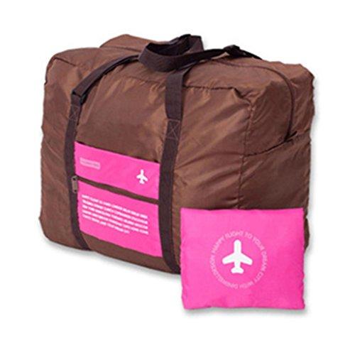 livecity faltbar Reisen Camping Leicht groß Kapazität tragbar Gepäck Tasche rosarot