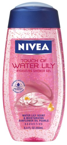 Nivea Touch Of Water Lily Hydrating Shower Gel, 8.4-Ounce Bottles (Pack of (Perfumed Bath Pearls)