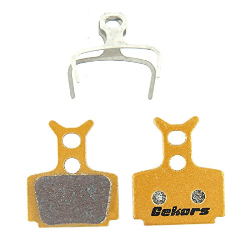 Gekors Metallic Bicycle Disc Brake Pads for Formula The One/R0/R1/RX/C1/Mega, 1 Pair with a Spring, Golden (One Brake)