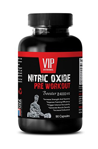 Muscle Gainer Pills – Nitric Oxide PRE Workout 2400MG- Nitric Oxide Supplements for Men – 1 Bottle (90 Capsules)