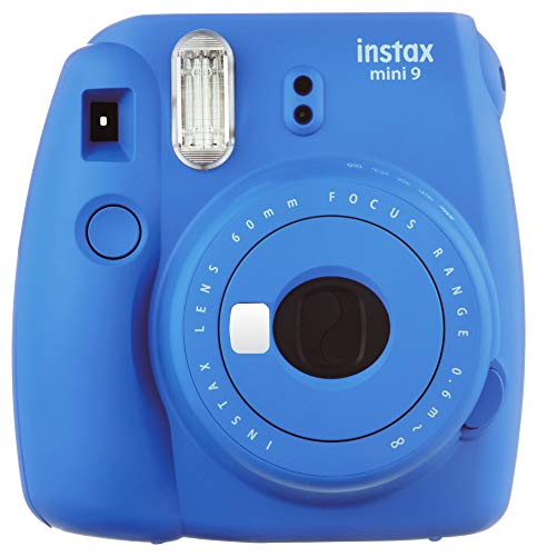 Fujifilm Instax Mini 9 Instant Camera, Cobalt Blue (Best Polaroid Camera Of All Time)