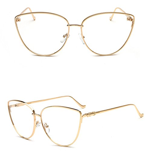 SupremeLife Vintage Men Women Round Frame Glasses, Cat Eye Glasses Clear Full Frame Optical Spectacles - Cat Spectacles
