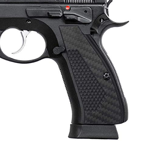 (Coolhand 3K Carbon Fiber Grips for CZ 75 Full Size,SP-01 Series, Shadow2, 75B BD, Screws Included, SP1-CFB3)