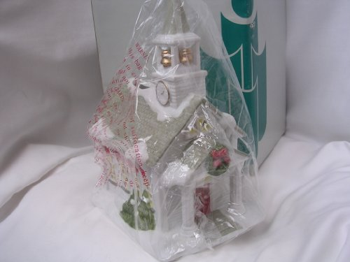 "Partylite Church Christmas Village Lighted 9"" Porcelain Collectible"