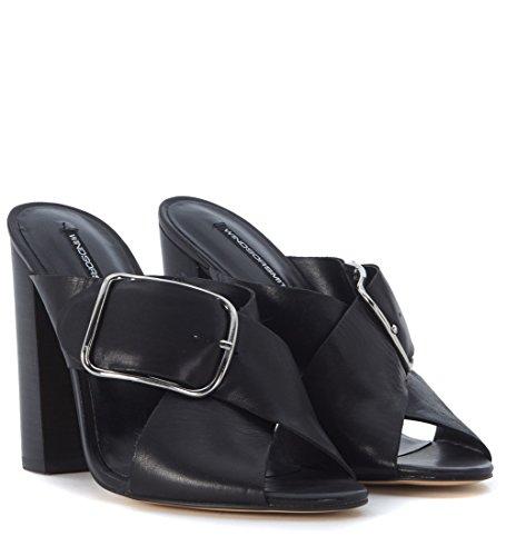 Nera Smith Delle Pantofola In Pelle Windsor Donne Nera UOSBt