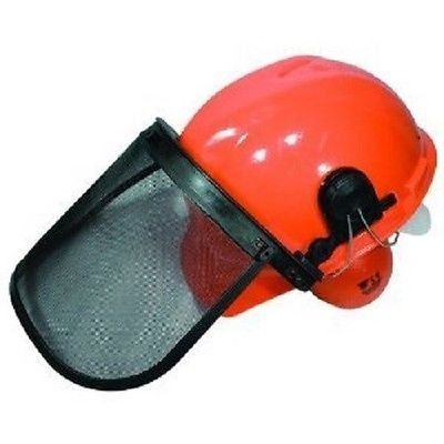 Chainsaw Protective SAFETY HELMET SYSTEM - Hard Hat / Ear Muffs / Face - Shield Husky