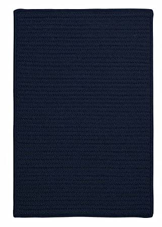 Amazon.com: Navy Blue Indoor/Outdoor Rug, Very Durable Solid 3ft ...