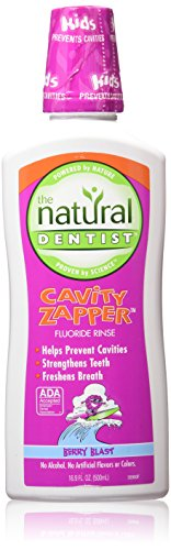 Natural Dentist Kids Cavity Zapper Fluoride Rinse, Berry Blast Natural, 16.9 Ounce ()