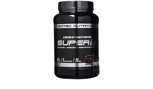 Scitec Nutrition Super 7 proteína chocolate con leche 1300 g: Amazon ...