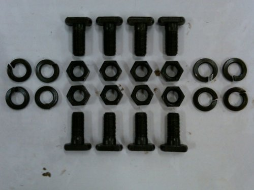 9' Ford T-Bolts w/ Nuts & Washers - 1/2' - Set of 8