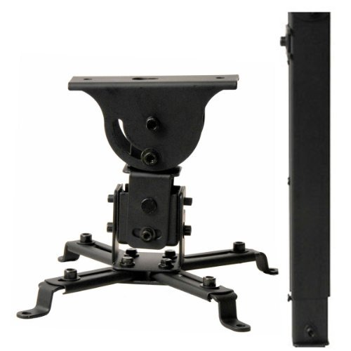 VideoSecu LCD DLP Projector Vaulted Ceiling Mount Bracket with Adjustable Extension Pole to 26.7
