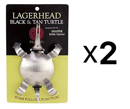 Brutool Lagerhead Black & Tan Turtle, Set of 2 (Turtle Snapping Shell)