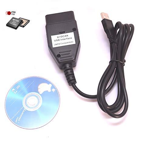 AuraTech DCAN k+ INPA ediabas Interface Coding Support E serials Interface for R56 E87 E93 E70 (Inpa K+dcan Usb Interface)